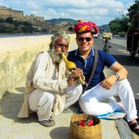 Blending in with the locals of India