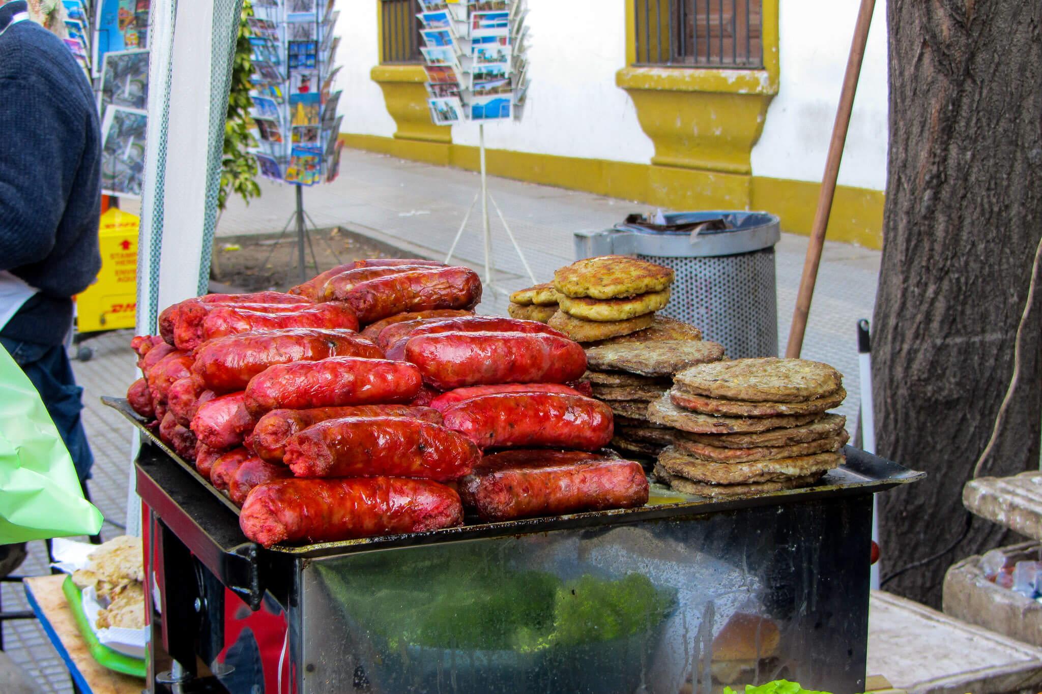 Choripan, a delicacy of Buenos Aires