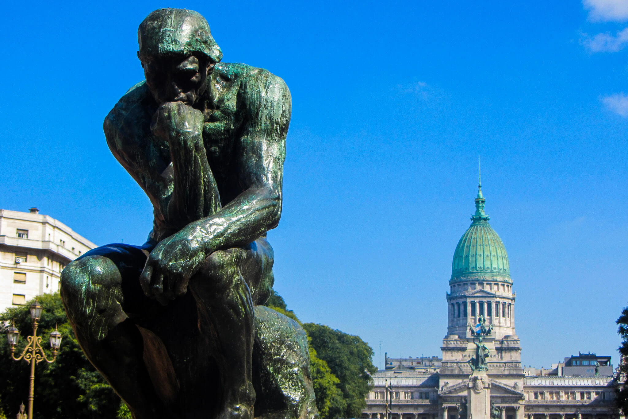 Rodin thinker at Buenos Aires congress