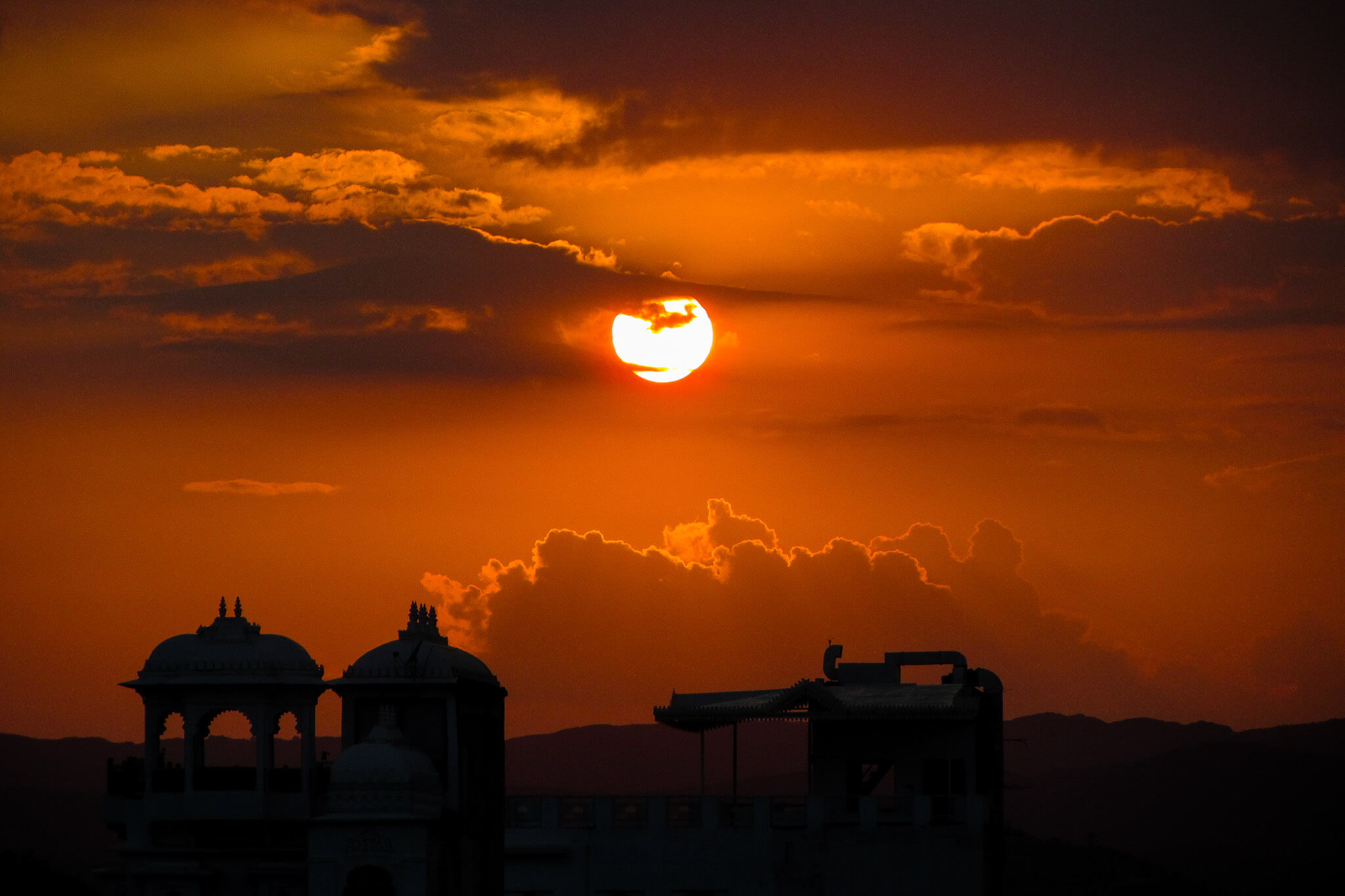 Sunset of wonders at Udaipur