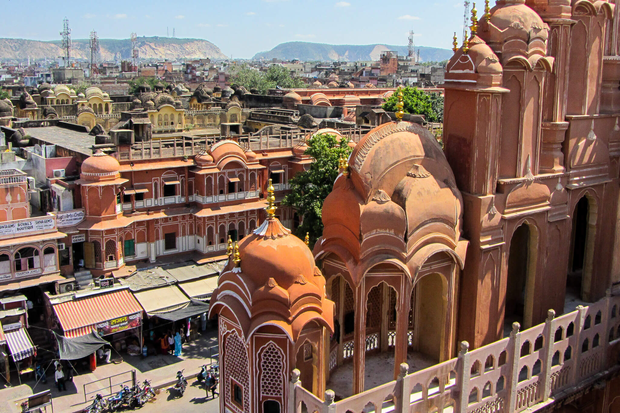 The architecture of the Pink City of Jaipur