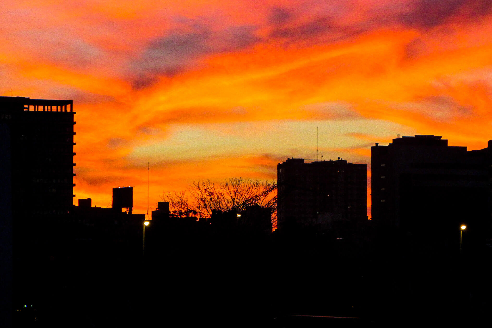 Urban sunset at Buenos AIres