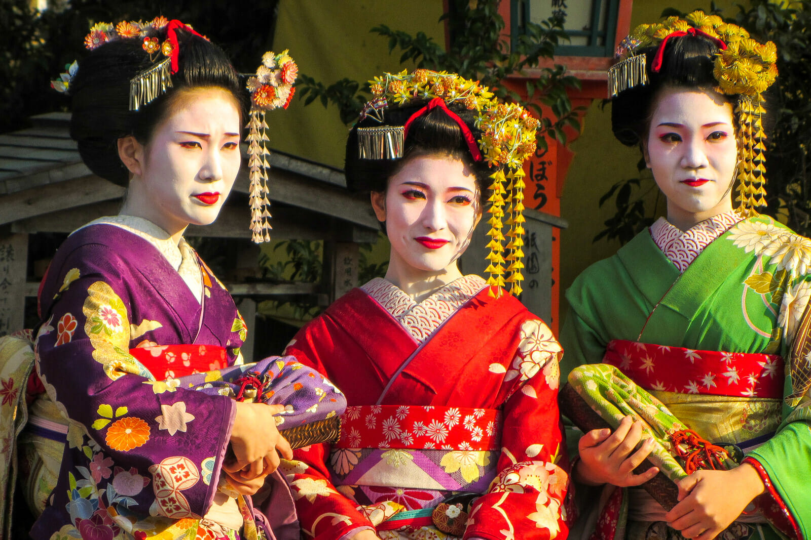 Tourists dressed as Geishas in Kyoto