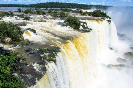 Iguazu falls as seen from the Brazilian side