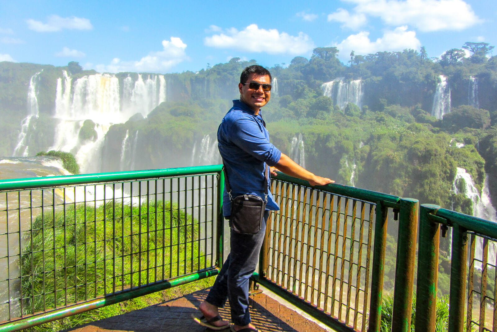 Man of Wonders at Iguazu Falls
