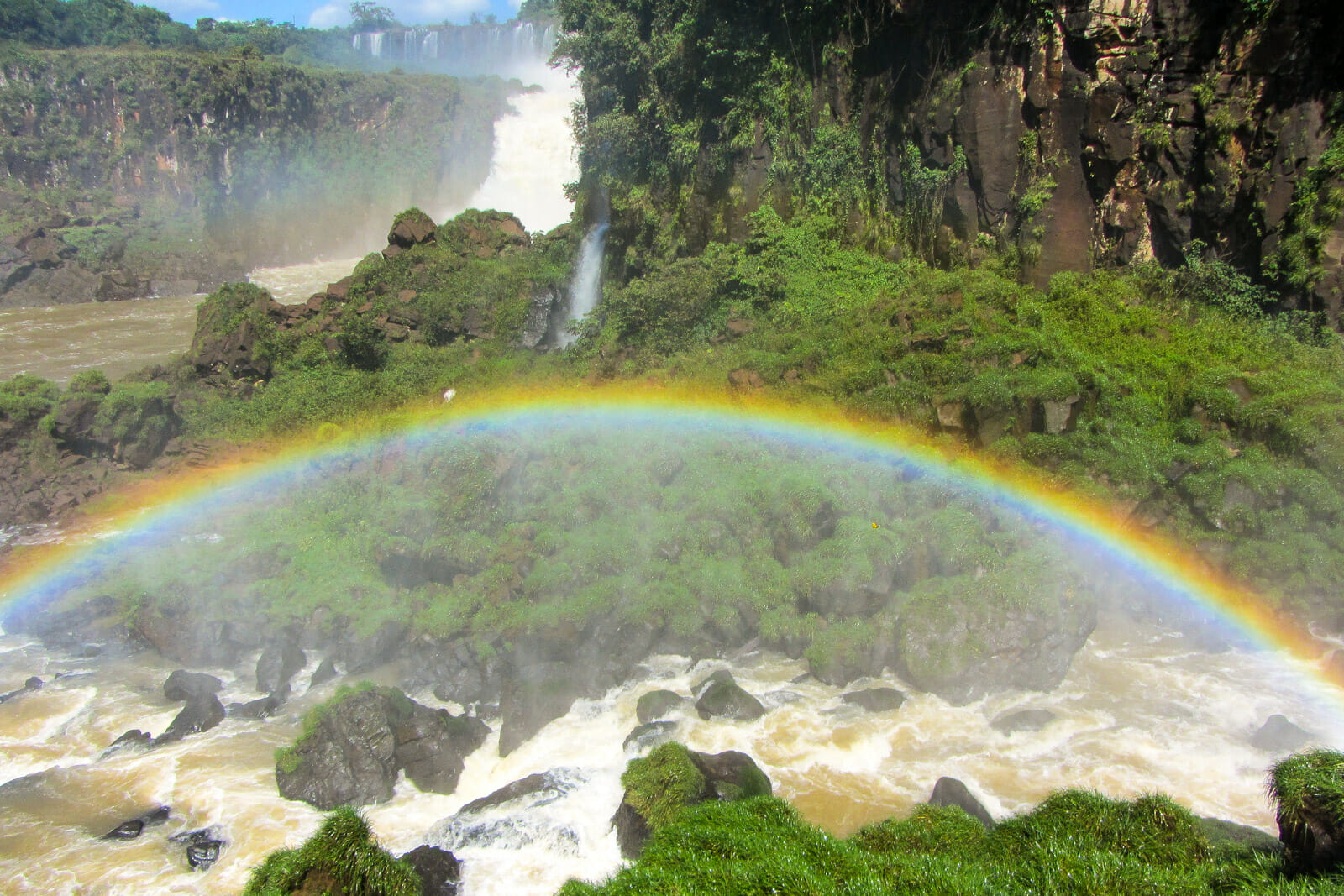 Rainbows at Argentinian side of Iguazu