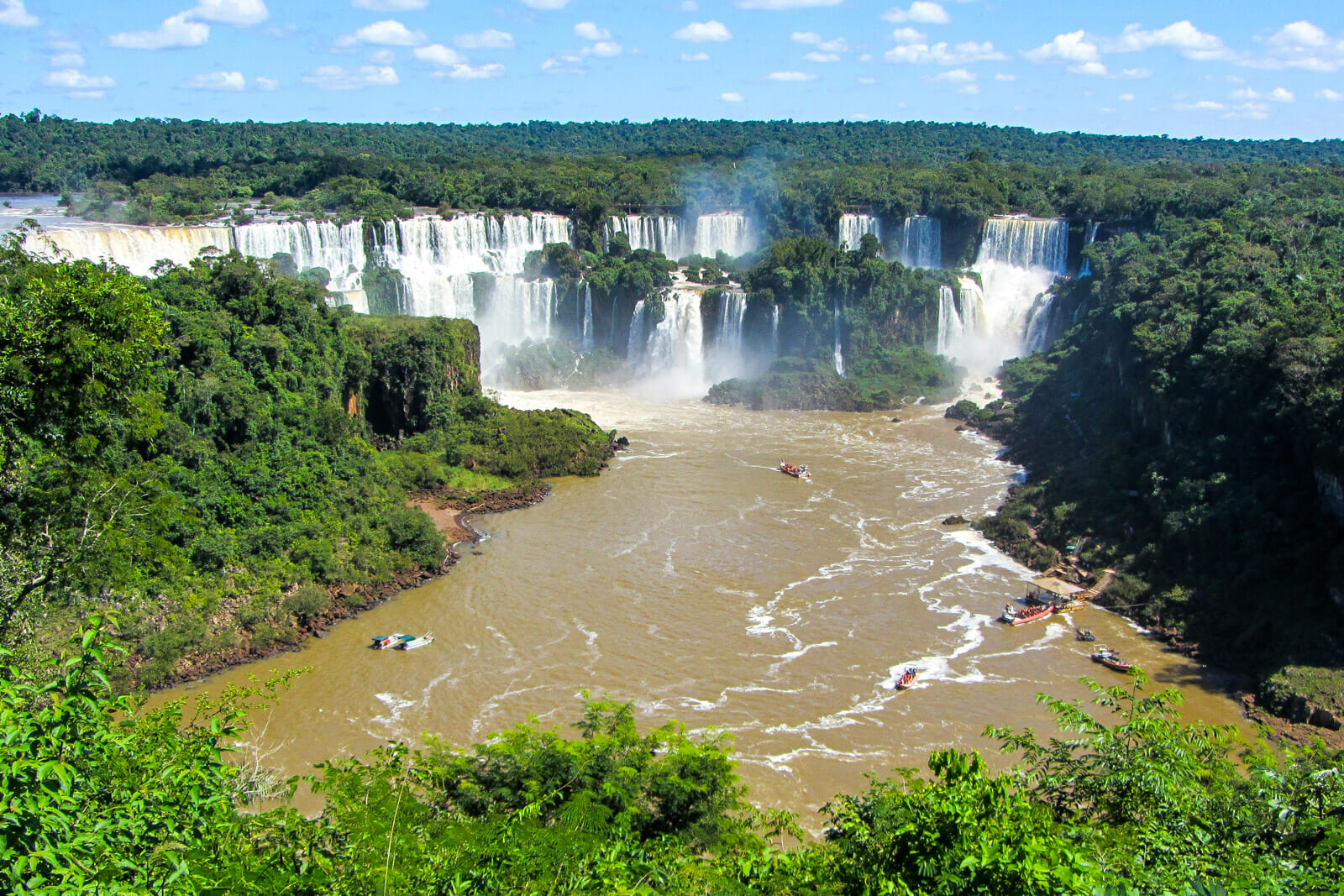 The natural beauty of Iguazu Falls in South America