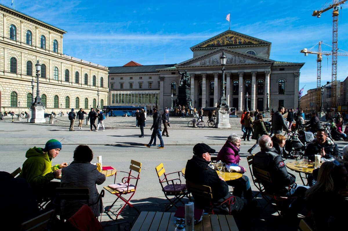 The beer gardens of Munich