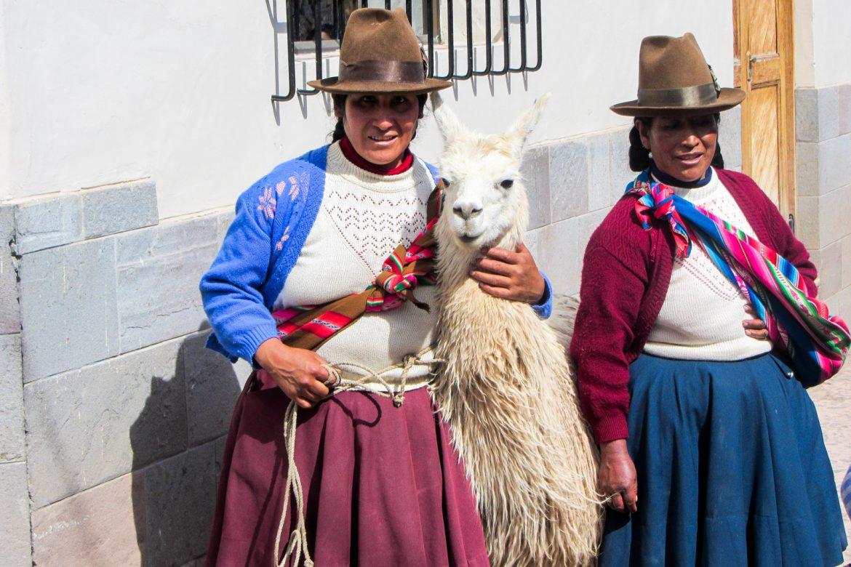 Inca ladies at Cusco, Peru