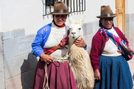 Inca ladies at Cusco, Peru