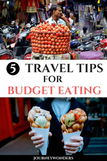 5 Travel Tips for Budget Eating