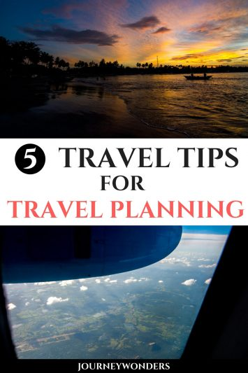 5 Travel Tips for Travel Planning