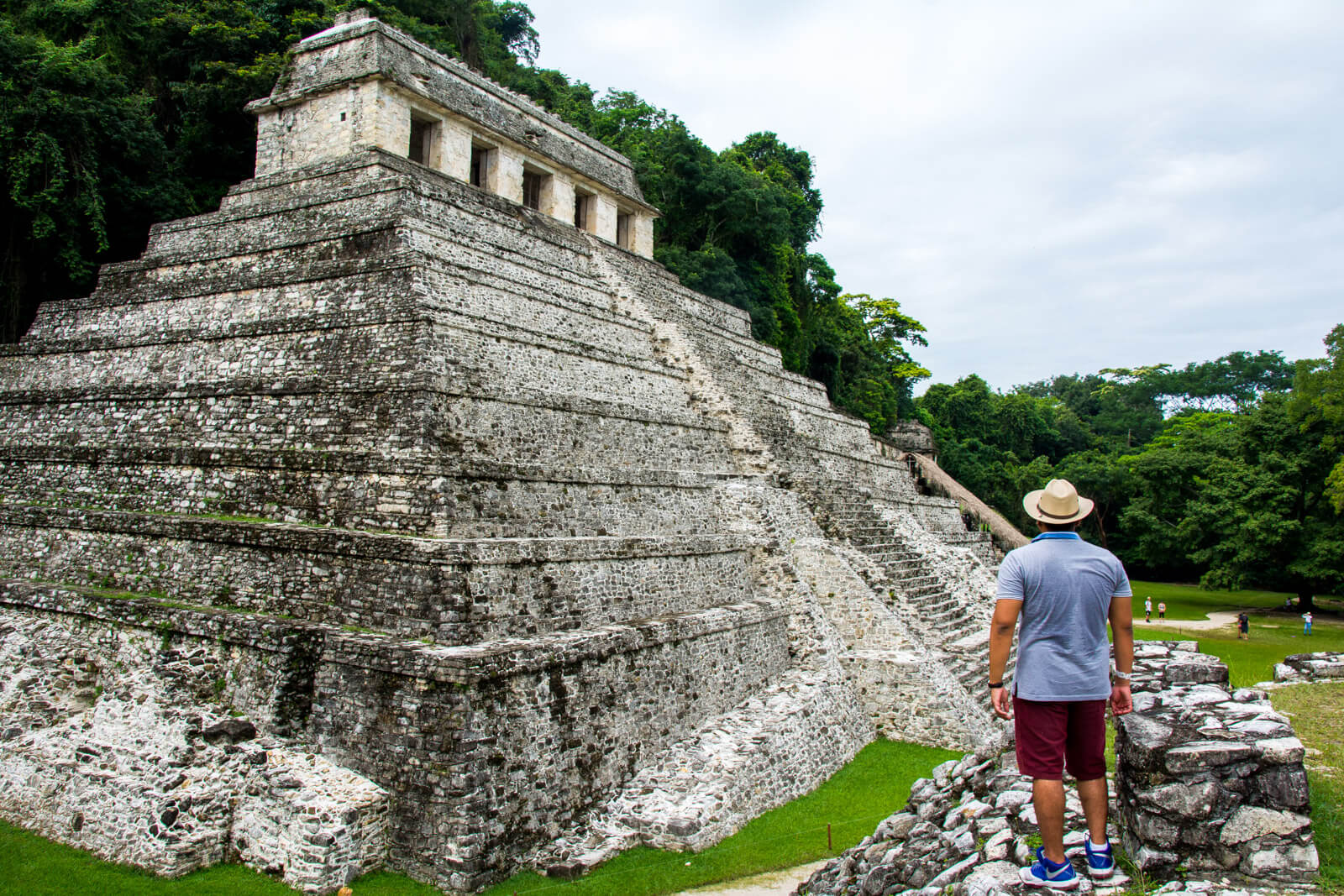 Contemplating the Pakal Palenque Pyramd