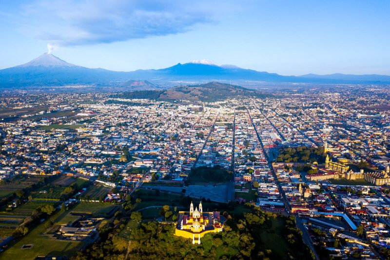 Drone View of Cholula in Puebla