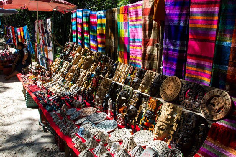 Mayan souvenirs at Chichen Itza
