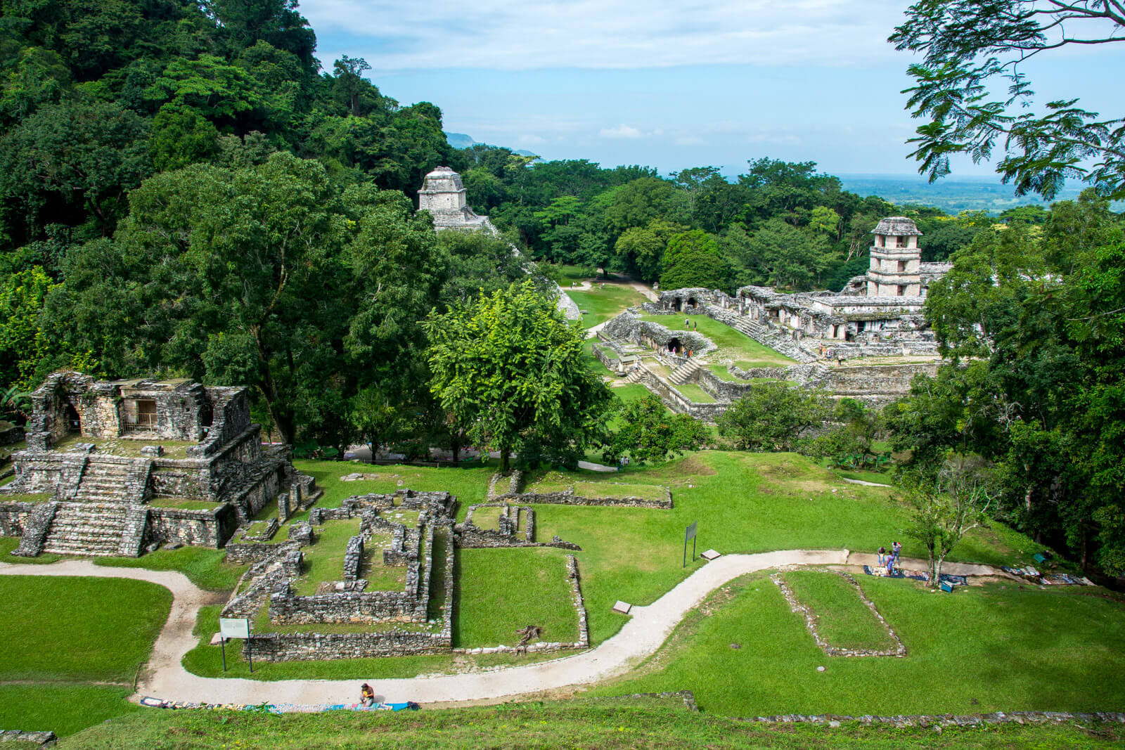 Panoramic view of Palenque's Pyramids