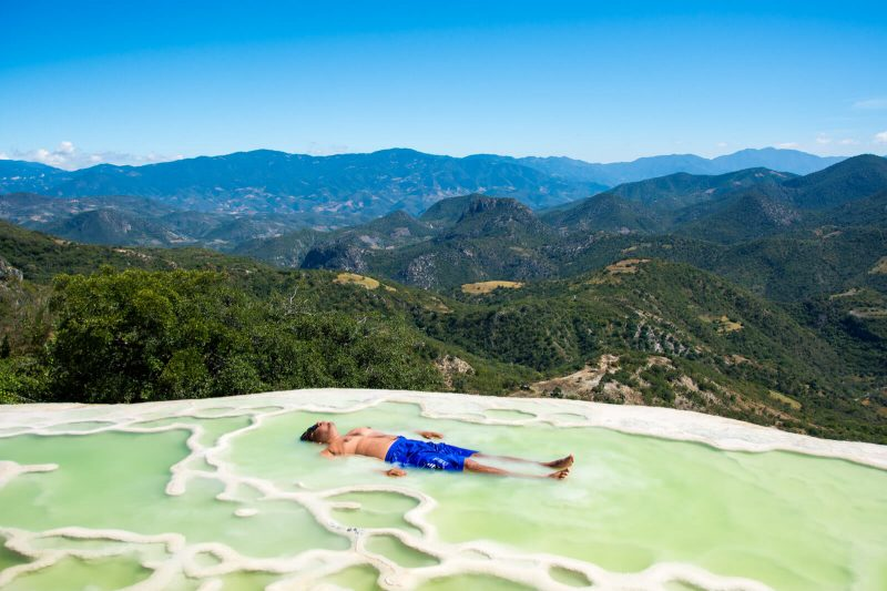 Planking at Hierve el Agua