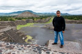 The Man of Wonders at the Ancient Pyramids of Teotihuacan