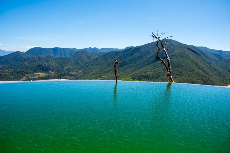 The majestic natural pools of Hierve el Agua