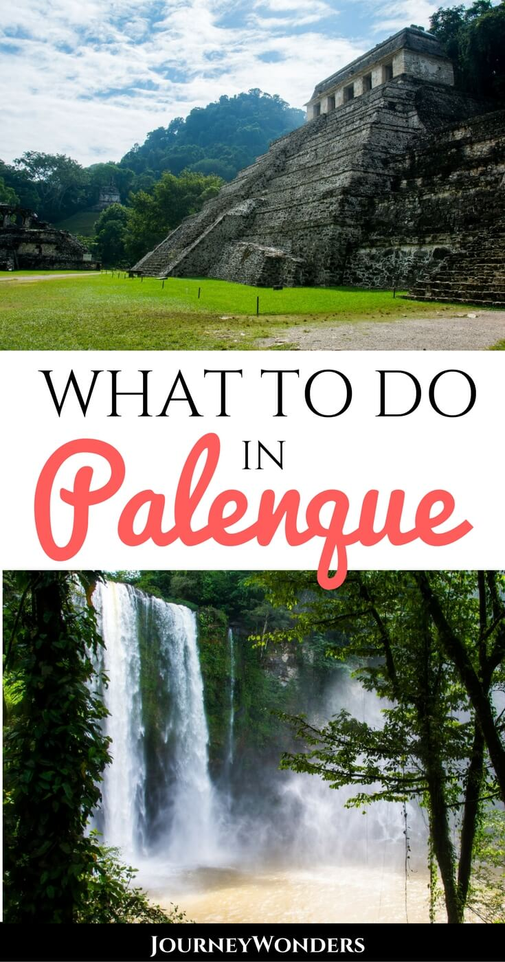 Located in the lush jungle of Chiapas, the Palenque Mayan Ruins will transport you back to Pre-Hispanic Mexico. Ready to explore it with the best tips? #Palenque #PalenqueChiapas #Chiapas via @journeywonders