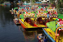 Xochimilco Colorful Boats