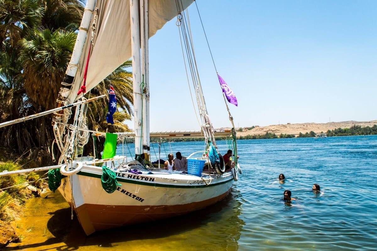 Felucca Sailing in the Nile River, Egypt 2