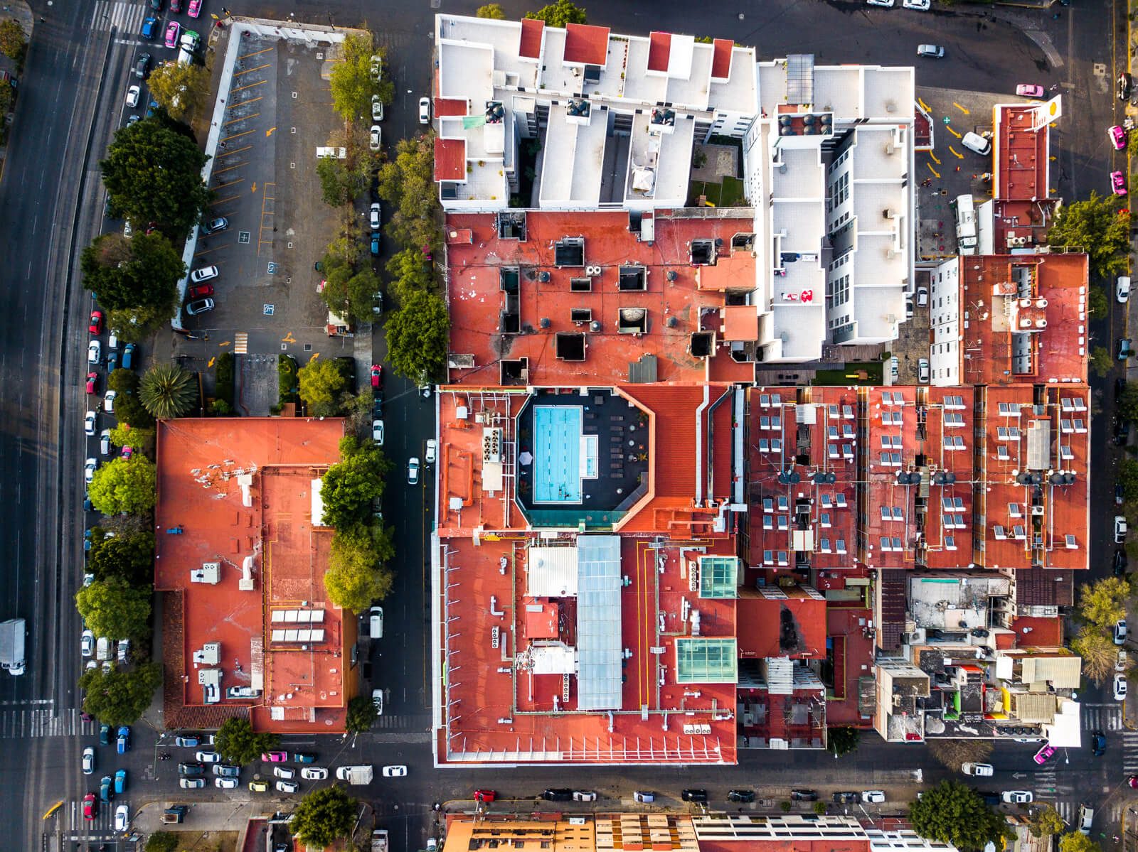 Holiday Inn Buenavista as seen from the Drone of Wonders Xochimilco Without a Tour