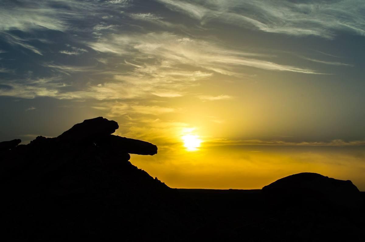 Sunrise at the Egyptian Desert