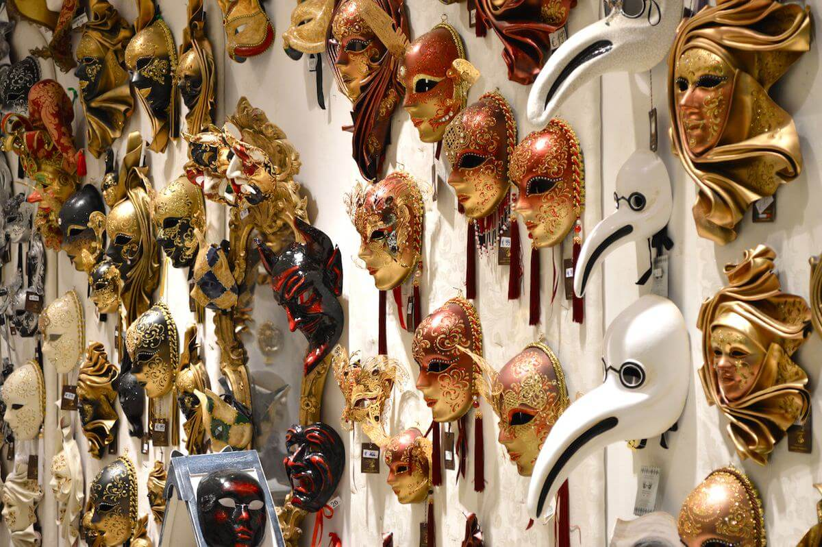 Venetian Masks on the wall