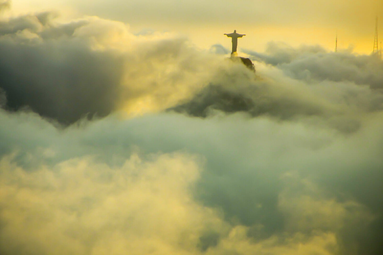 Christ the Redeemer as seen from Sugarloaf Mountain