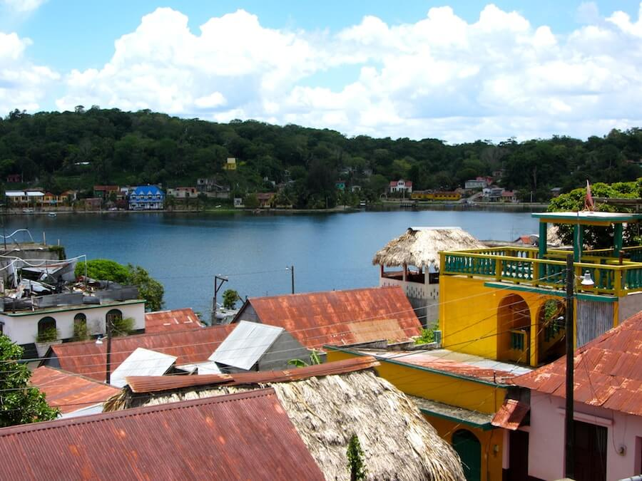 Panoramic view of Flores Guatemala