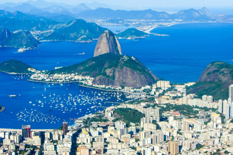 The view of Rio de Janeiro from Christ the Redeemer