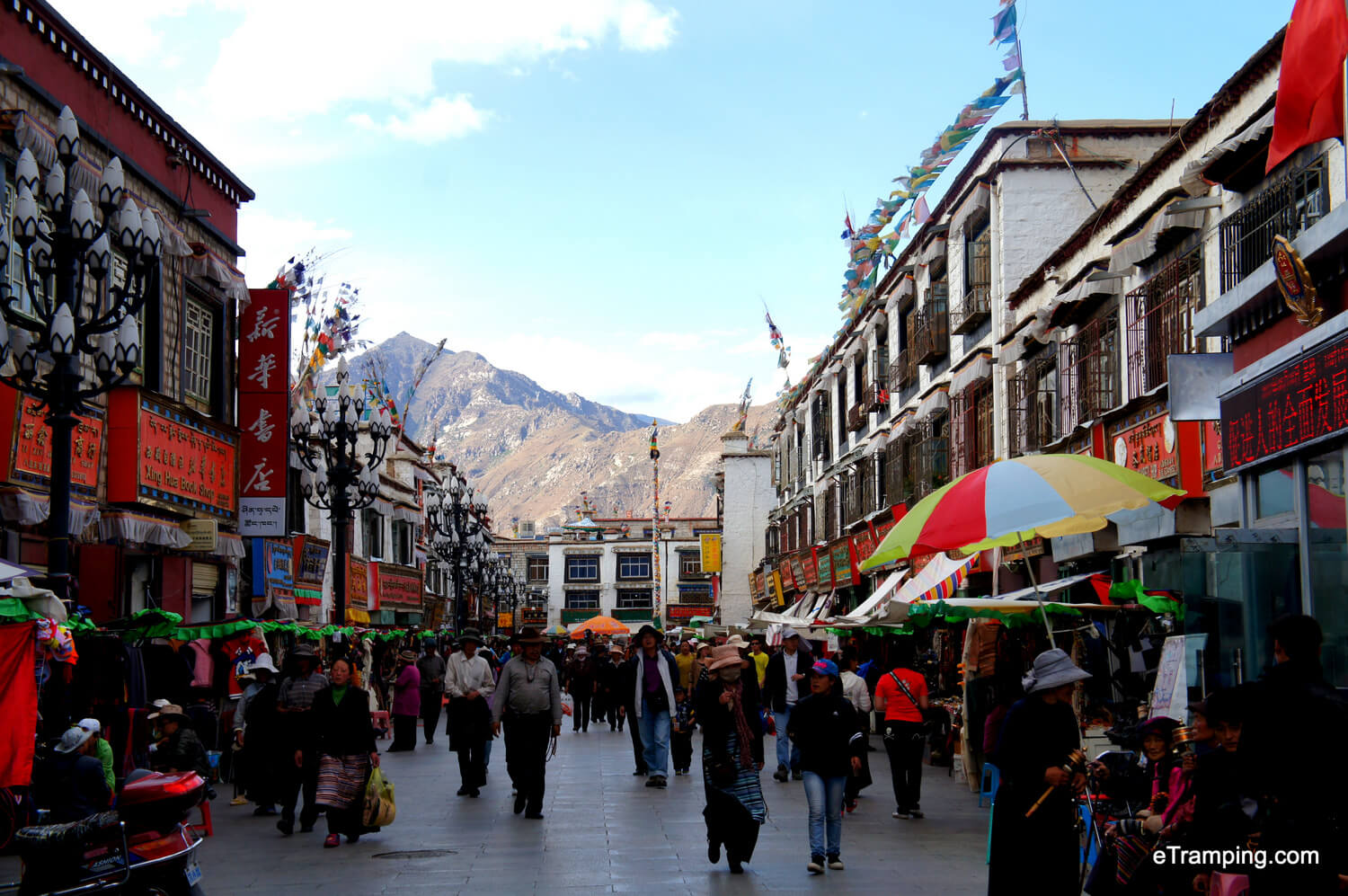 The streets of Lhasa, Tibet