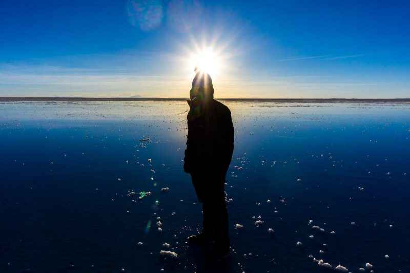 If you're lucky, you shall find water at the Salar de Uyuni perfect for reflections