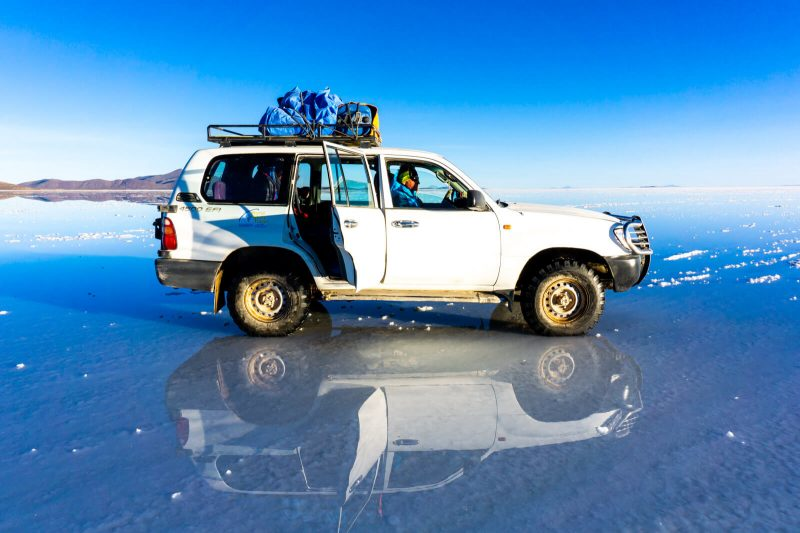 Our Minivan of Wonders at the Salar de Uyuni