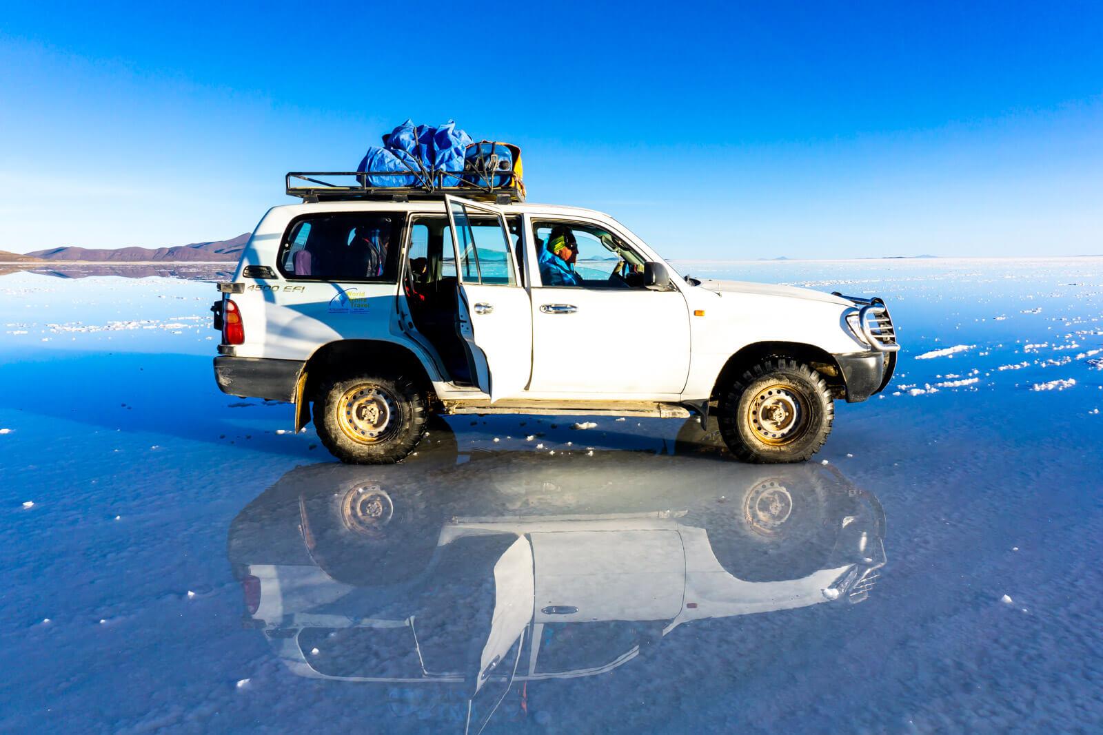 Our Minivan of Wonders at the Salar de Uyuni