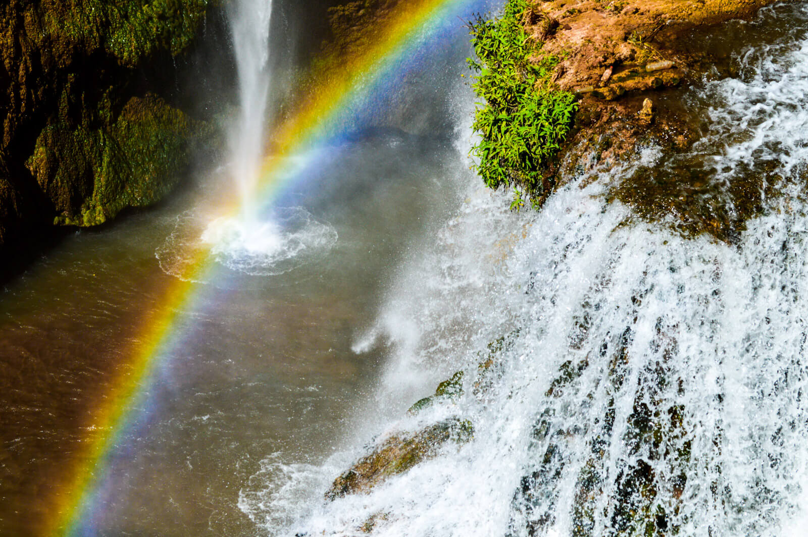 Rainbows at the Ouzoud Waterfalls