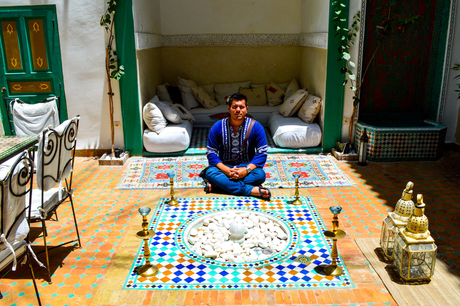 The Man of Wonders at the Riads of Marrakesh