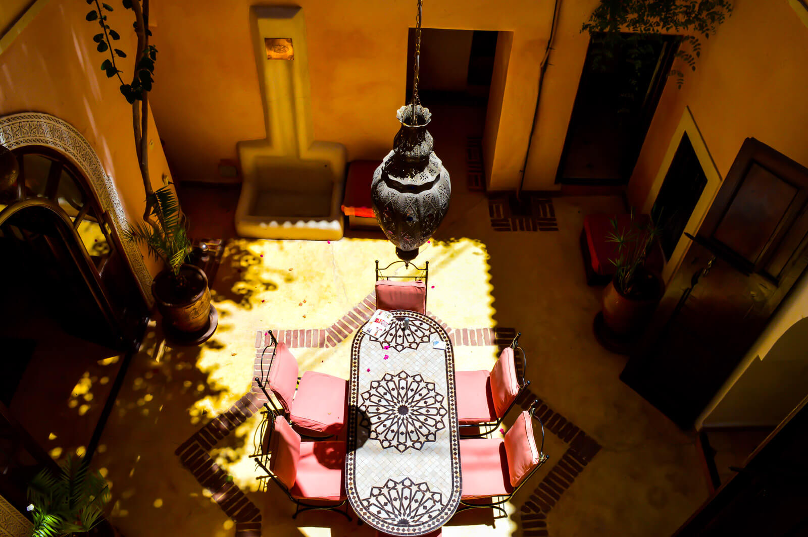 The courtyards of The Riads of Marrakesh