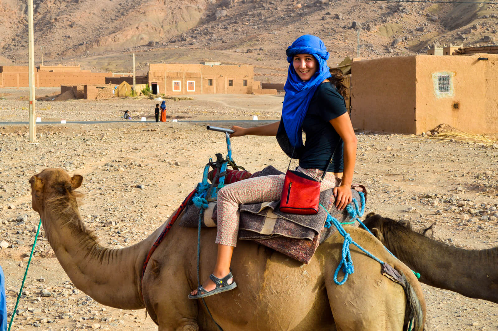 The pain of the first camel ride