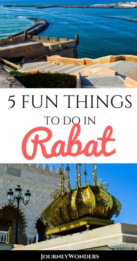 Rabat, the Royal Capital of Morocco is often overlooked in most itineraries. Here's 5 wonderful things to do and see in Rabat, Morocco. #Rabat #Morocco #Travel #NorthAfrica