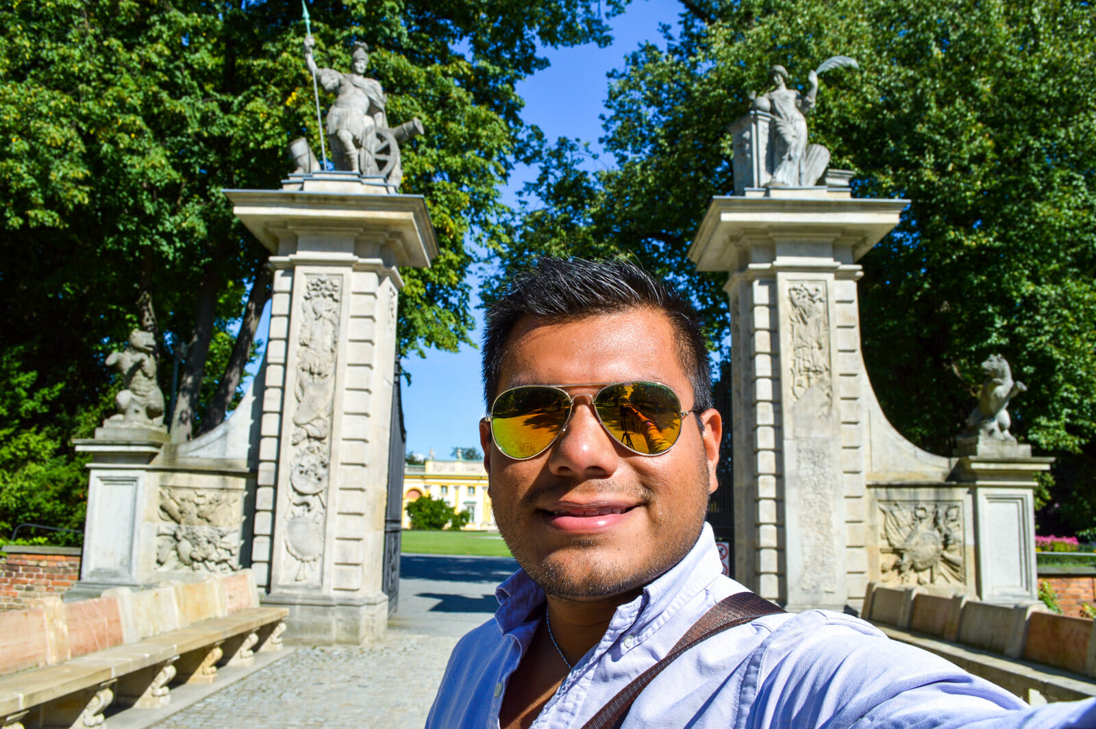 Selfie of Wonders at the Wilanow Palace