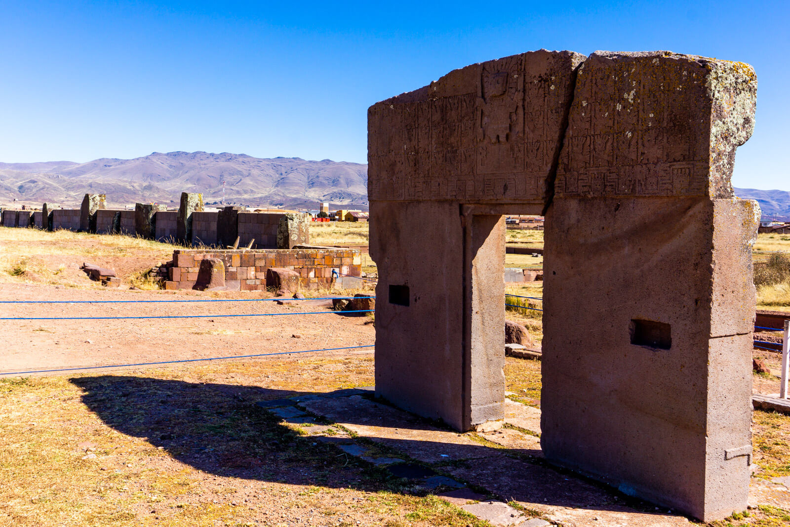The Gate of the Sun in Tiwanaku Ruins