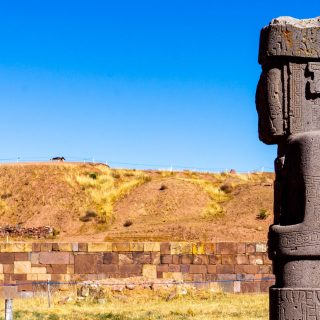 The Ponce Monolith in Tiwanaku Ruins, Bolivia
