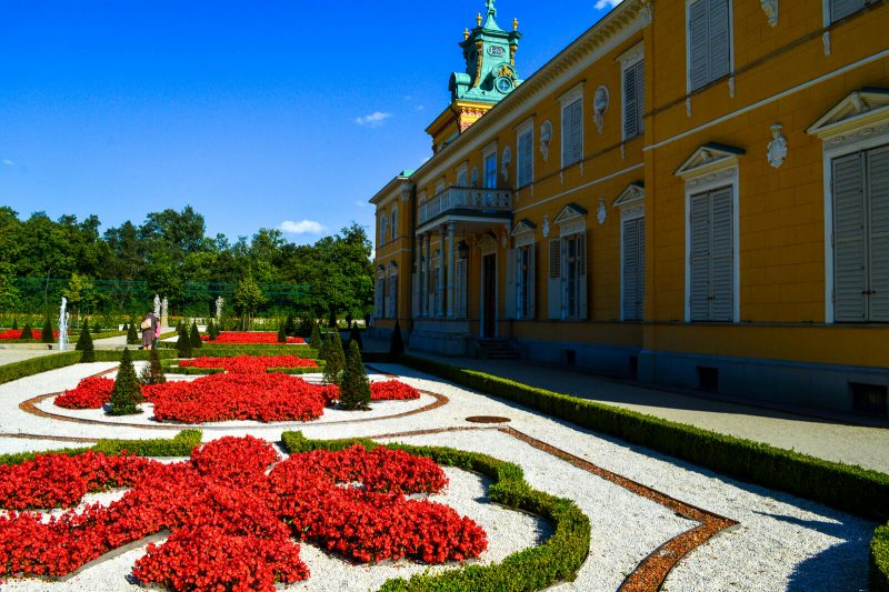 The charming garden of the Wilanow Palace
