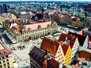 The colorful town of Wroclaw, Poland