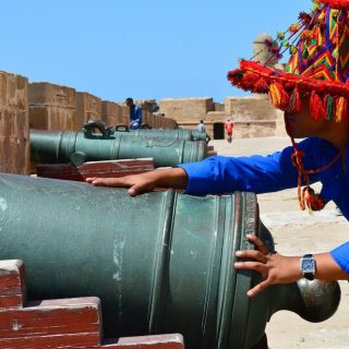 Funky Moroccan hat at Essaouira