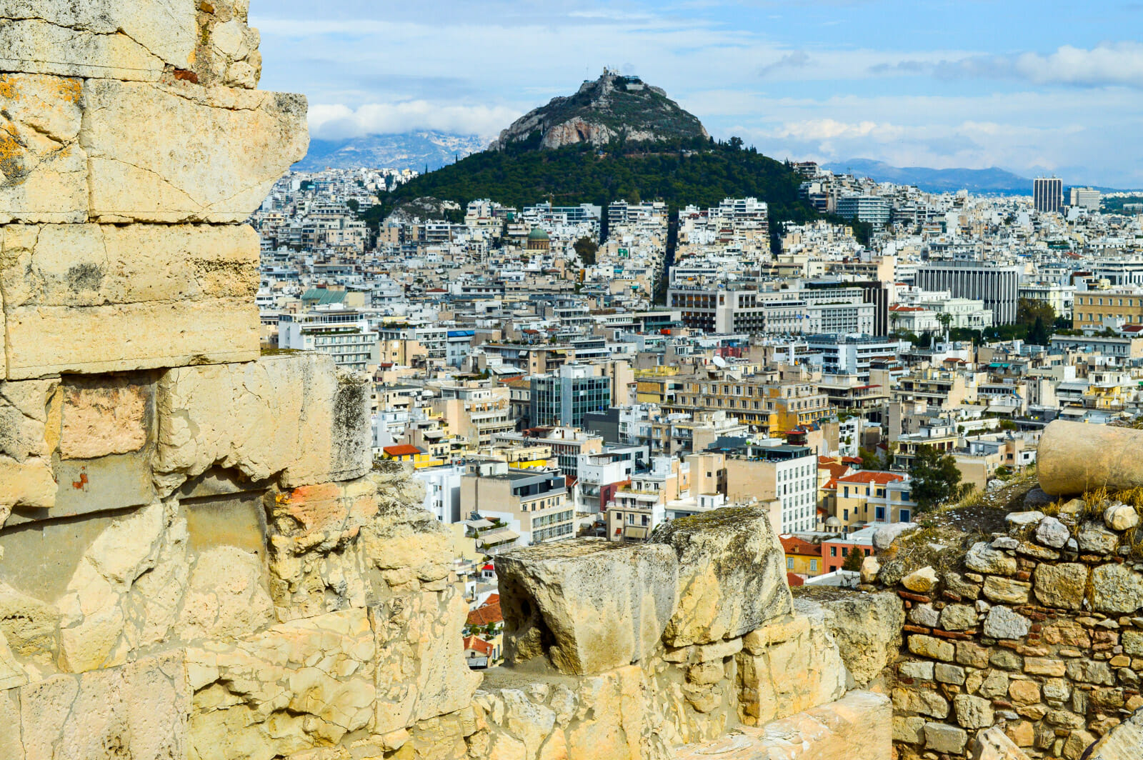 Athens as seen from the Parthenon