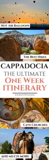 Is it possible to explore Cappadocia without a tour? Here's a self guided tour to the 7 Best Things to Do and See in Cappadocia. Enjoy this One Week Itinerary to Cappadocia everybody #Turkey #Cappadocia #Asia
