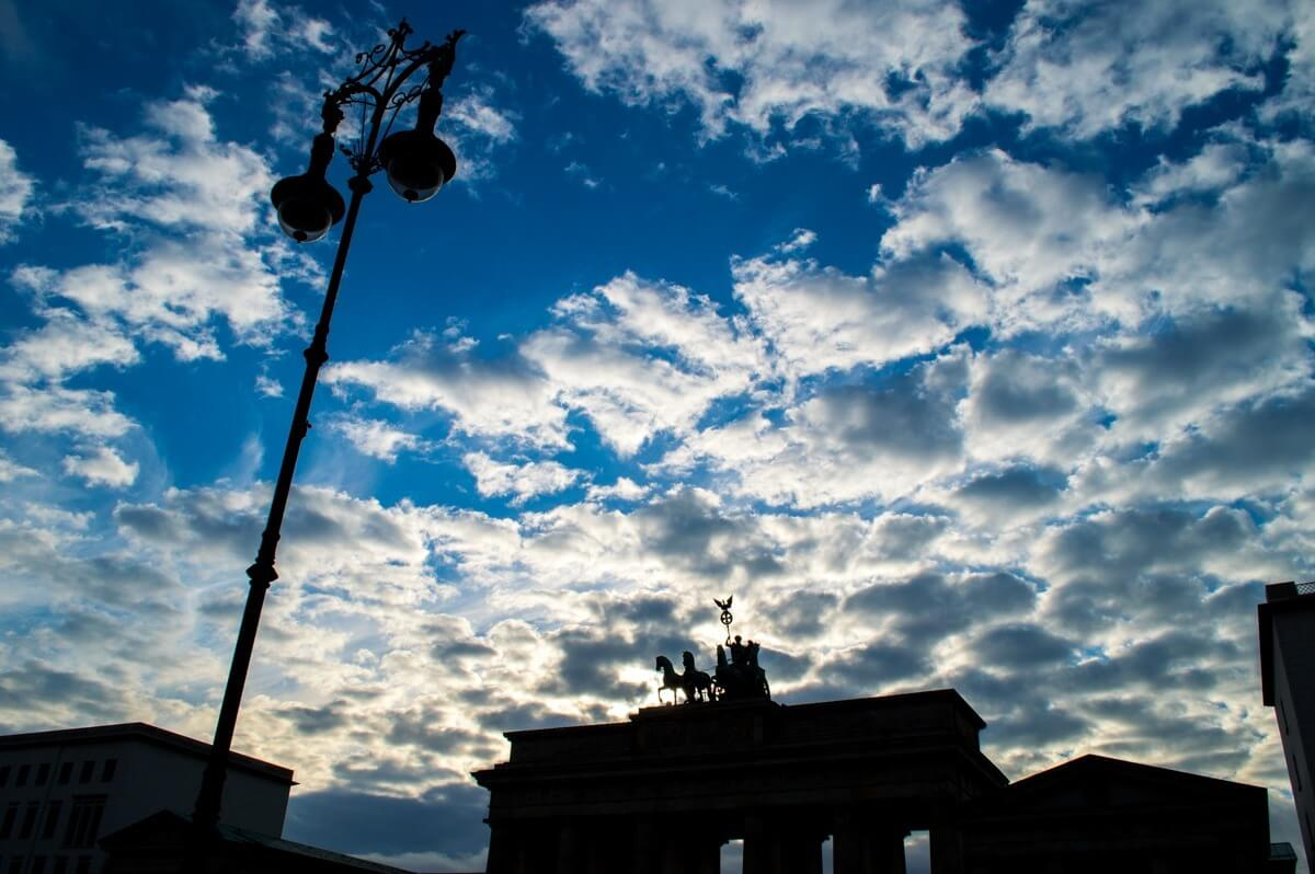 Clouds at the Bradenburg Tor